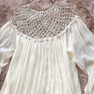 Free People crotchet flowy mini dress